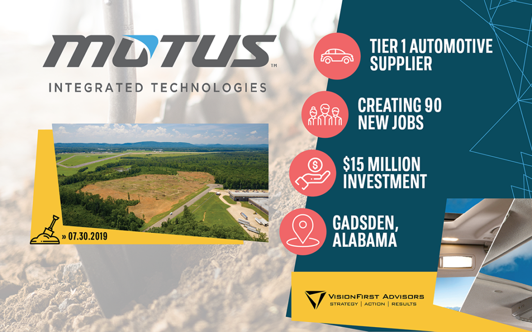 VisionFirst Partners with Motus on 15-Month Search that Selects Alabama